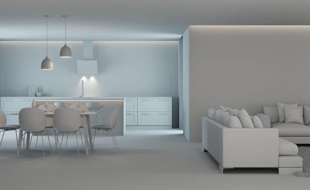 3d model showing the interior