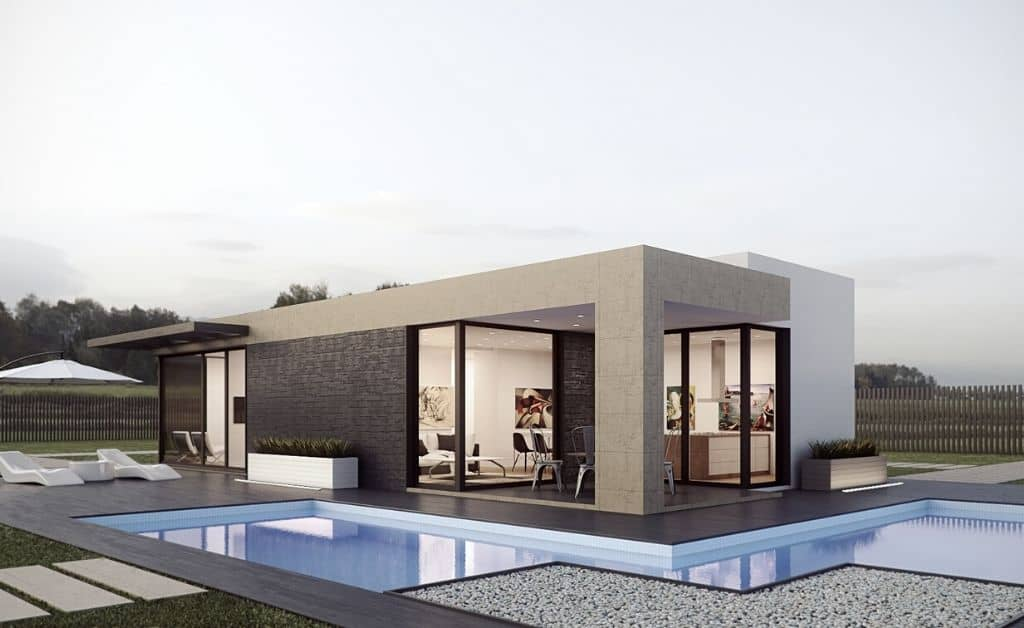 villa made with 3Ds max design software program