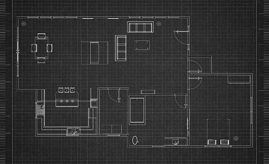 floor plan in dark background