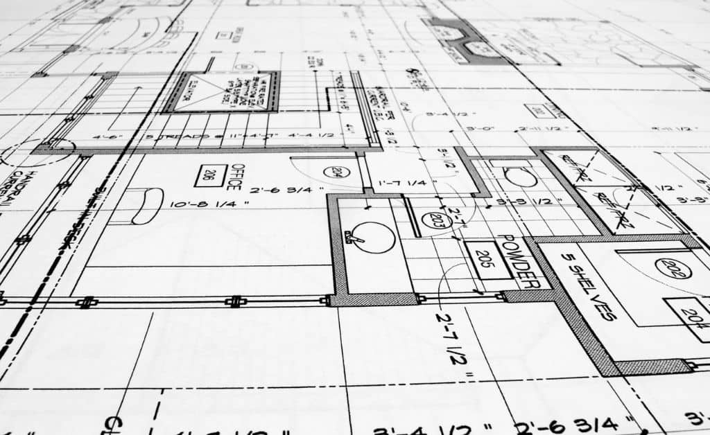 cad plan on the paper