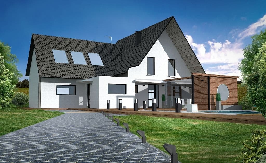 house made with sketchup design software tool